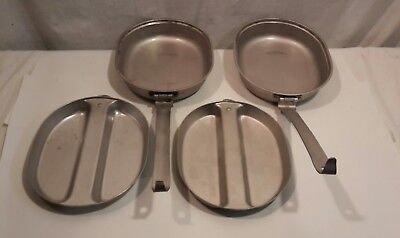 2 Vintage US Military 1965-1967 Army Camping Mess Dishes Pans