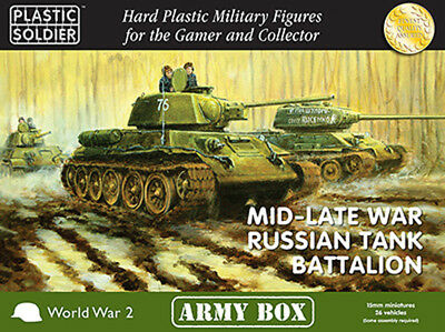 15mm Easy Assembly: Mid and Late War Russian Tank Battalion Army Box