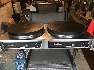 Krampouz Double Electric Crepe Griddle Model Cecij4 In Great Condition