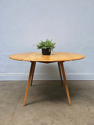 Vintage Ercol Blonde Drop Leaf Dining Table. Refinished. Mid Century. DELIVERY
