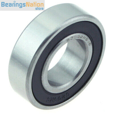 """Ball Bearing HBC 6205-2RS-16 With 2 Rubber Seals & 1"""" Bore 25.4x52x15mm"""