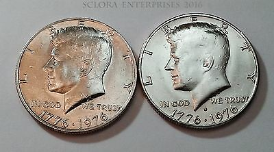 1976 P & D Kennedy Half Dollar Set (2 Coins)  **FREE SHIPPING**