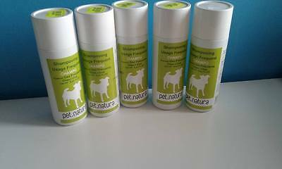lot 5 shampoing pet natura pour chien et/ou chat usage frequent 250ml