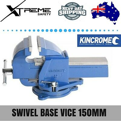 Kincrome Swivel Base SG Iron Vice 150mm 6 Inches Lockable 360° Heavy Duty Steel