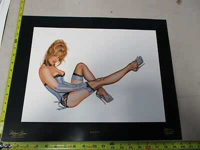 MB/ Blue Note 1993 Olivia Pinup Art Poster Robert Bane Editions Blue Lingerie