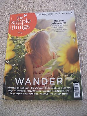 The Simple Things Magazine July 2017 Wander Very Good Condition