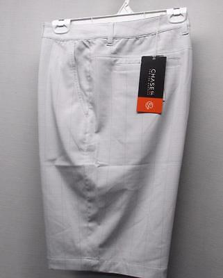 New with tags Mens Size 36 CHASE 54 DRYFUZE silver fog polyester golf shorts