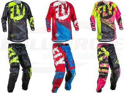 Fly Racing Kinetic Outlaw Youth Childs Jersey Pant Combo Set Riding Gear MX/ATV