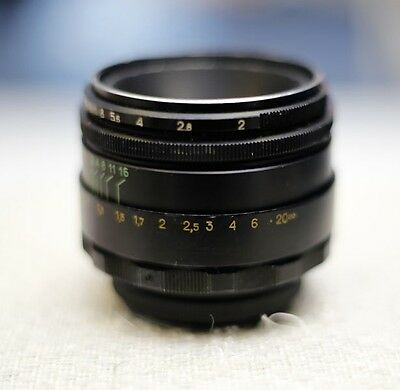 HELIOS -44-2   2/58 Lens(M42 screw fit) f2.0 50mm good condition , no fungus