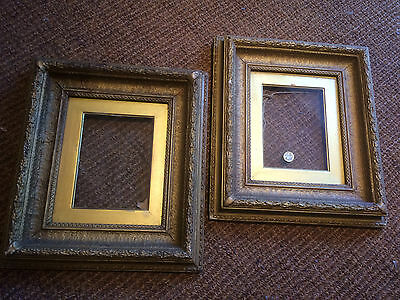 Pair Antique Victorian Plaster Gold Gilt Gesso Picture Frame