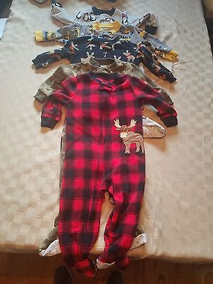 Lot of 5 Carter's Baby Boy Pajamas Size 18 Months