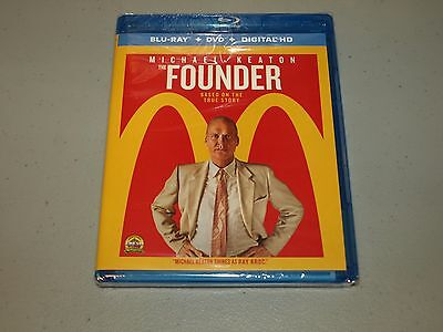 The Founder (Blu-ray/DVD, 2017, 2-Disc Set, Includes Digital HD)  BRAND NEW