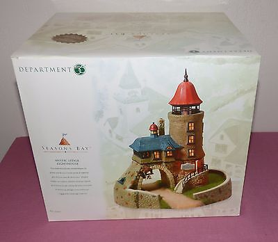 Dept 56 Mystic Ledge Lighthouse #53445 Seasons Bay Village / Retired Nib