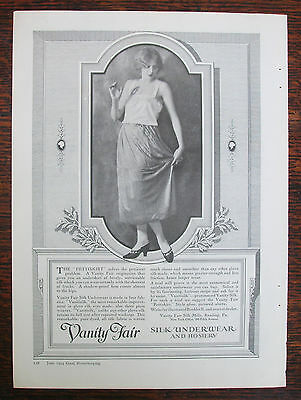 Vintage 1924 VANITY FAIR Silk Underwear and Hosiery Advertisement