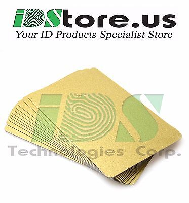 100 Gold Blank PVC Cards, CR80, 30 Mil, Graphics Quality, Credit Card size