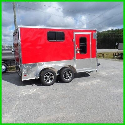 7x12 2ft v nose 14 ramp enclosed cargo motorcycle camper trailer 3 windows new