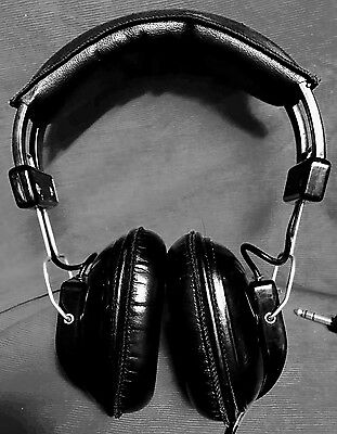 VINTAGE Quality SONY DR-7 stereo Headphones Retro TestedWorking Audio Made JAPAN