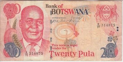 BOTSWANA BANKNOTE P. 7 2 PULA SIG 6a UNICRCULATED USA SELLER