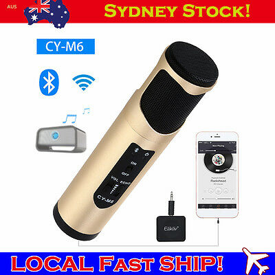 FAST CY-M6 Wireless Bluetooth Microphone Karaoke Player +Receiver For PC Android
