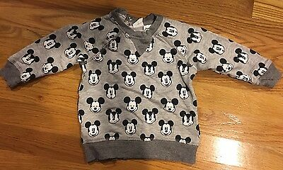 H&M Mickey Mouse Boys Sweat Shirt Sweater 9 - 12 Months All Over Kids