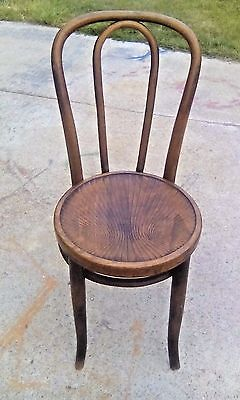 Vintage Bentwood Parlor Bistro Cafe Side Chair Excellant Wood Seat Thonet Style