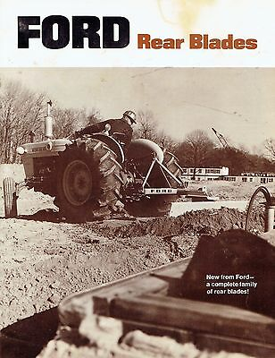 Ford Tractor Rear Blades Advertising Sales Brochure AD-6946 127150