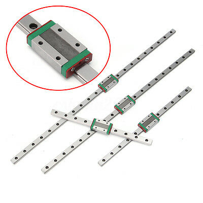 Linear Guide Rail Way Slide + MGN12H Carriage Block for CNC 3D Printer 5 Size