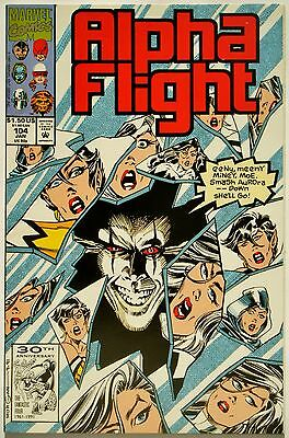 Alpha Flight #104 (Jan. 92') NM (9.4) vs Headlok/ Team Dons New Uniforms