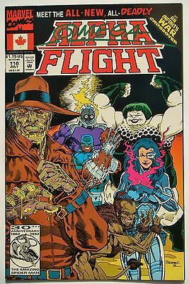 Alpha Flight #110 (July 92') NM- (9.2) 1st App. New Omega Flight/ Infinty War