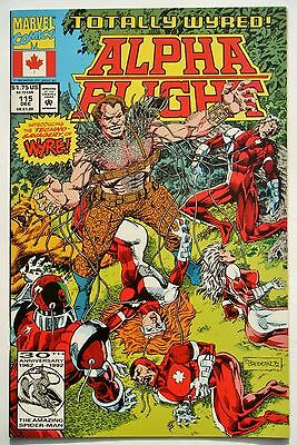 Alpha Flight #115 (Dec. 92') NM (9.4) Weapon Omega vs Wyre/ Weapon X Cameo