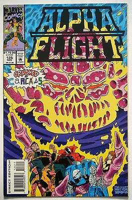 Alpha Flight #126 (Nov. 93') VF+ NM- (9.0) vs Carcas 5/ Carrasco Jr. Art