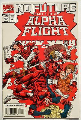 Alpha Flight #128 (Jan. 94') NM (9.4) No Future Part 1 (of 3) Carrasco Jr. Art