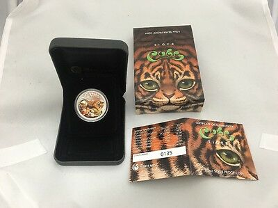 NEW Perth Mint The Cubs – Tiger 2016 1/2oz Silver Proof Coin