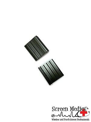 2 Pack - Black Pull Tabs for Window Screens - Hard PVC