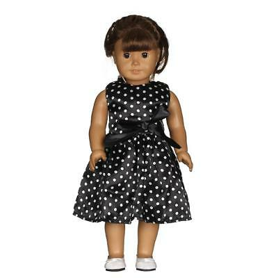 Black Skirt Dotted Dress for American Girl Our Generation 18'' Doll Clothes