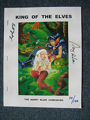 Barry Blair King of Elves Preview signed limited