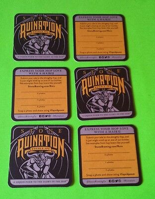 Beer coasters: 6 Stone Ruination (group 6X)