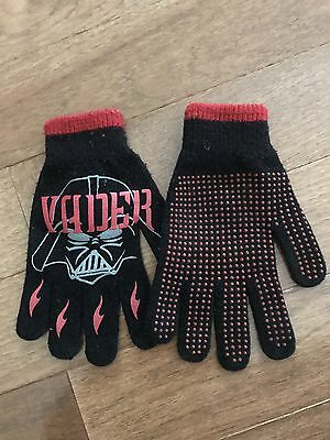 Pre-owned Boys Darth Vader Gloves Size One Size