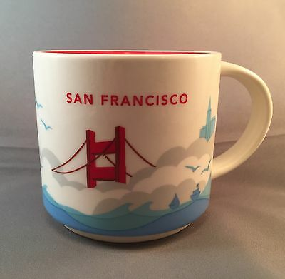 New Starbucks You Are Here Series San Francisco Mug