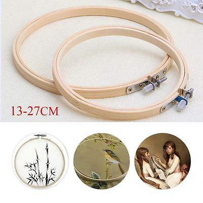 Wooden Cross Stitch Machine Embroidery Hoops Ring Bamboo Sewing Tools 13-27CM AT