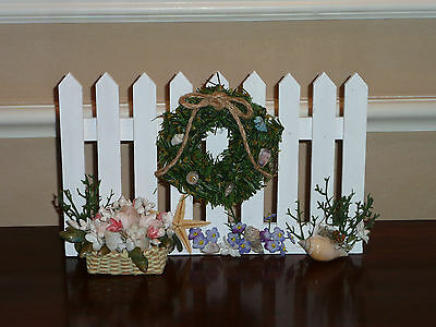 NAUTICAL CHRISTMAS FENCE ACCESSORY 4 BYERS CHOICE ~Terrific w/Santa & Mrs. Claus