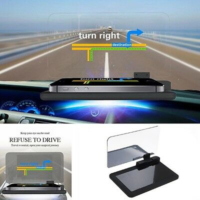 "6"" Screen Car GPS Navigation Holder HUD Head Up Display Projector Phone Bracket"
