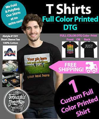 Custom-Personalized-T-Shirts-with-Photo-amp-Text-or-Logo  Custom-Personalized-T