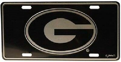 Georgia Bulldogs Elite Car Truck Tag License Plate Black G University