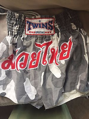 Twins camo muay thai shorts