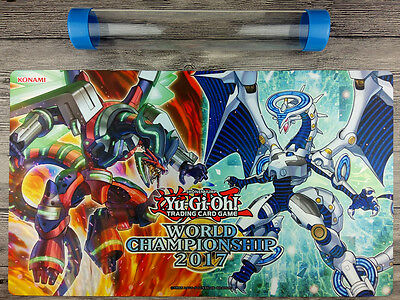 2017 WCQ YuGiOh Firewall Dragon Playmat TCG Mat Free High Quality Tube 『New』
