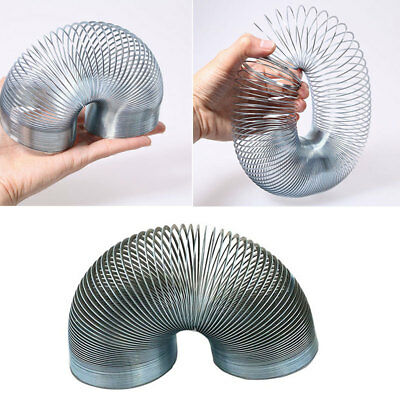Silver Coloured Mini Metal Coil Toy Kids Gift Party Filler Magic Bouncing Spring