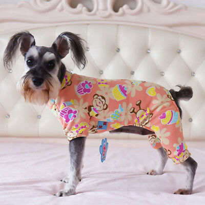 Pink Small Pet Dog Pajamas Coat Cat Puppy Clothes Apparel Jumpsuit Costume S