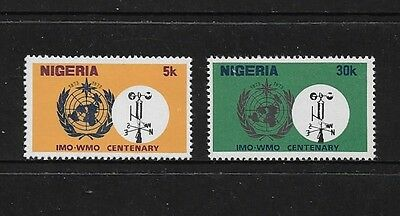 NIGERIA - mint 1973 Centenary of the IMO WMO, set of 2, MNH MUH