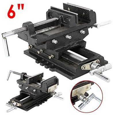"Heavy Duty 6"" Cross Drill Press Vise Slide Metal Milling 2 Way Clamp Vice AS"